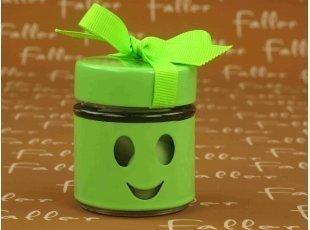 Pot à dragées smiley anis pour baptême