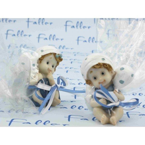 Bébés Jumeaux Fille Et Garçon : Figurines bébés jumeaux fille garçon avec doudou et dragées