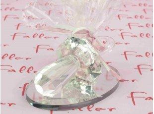 Tétine en verre sur socle pour fille