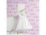 Robe à dragées rayées rose et blanche