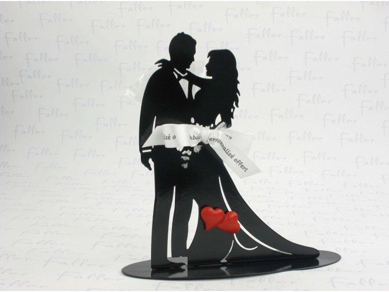 Couple dansant robe longue support à dragées