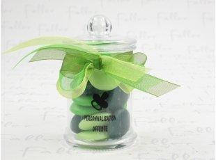 Bonbonniére avec confettis vert