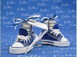 Basket  bleue marine pour un  baptême de fille ou garçon