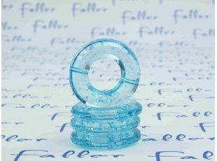 Socle anneau bleu pour boule plexi