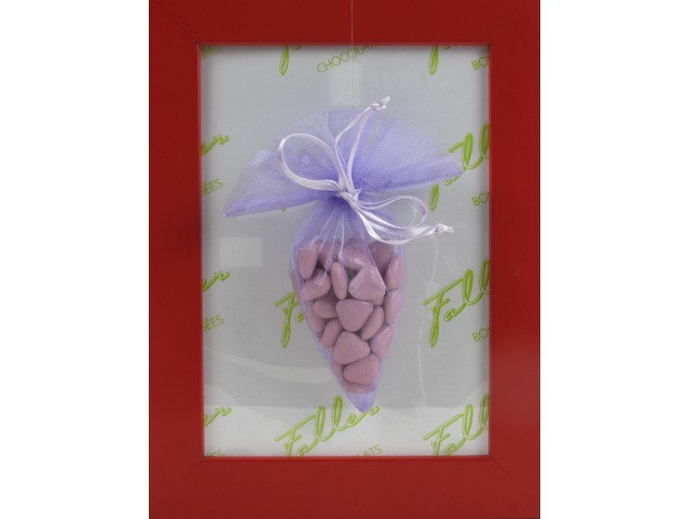 Pochon de dragées lilas