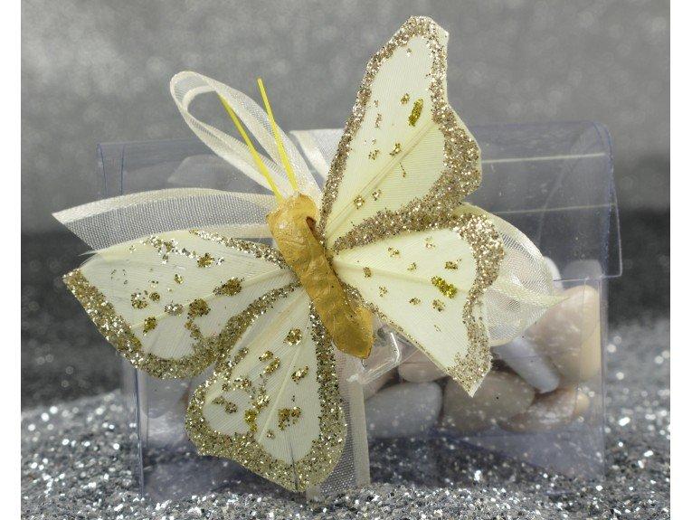 Dragees mariage papillon avec malle
