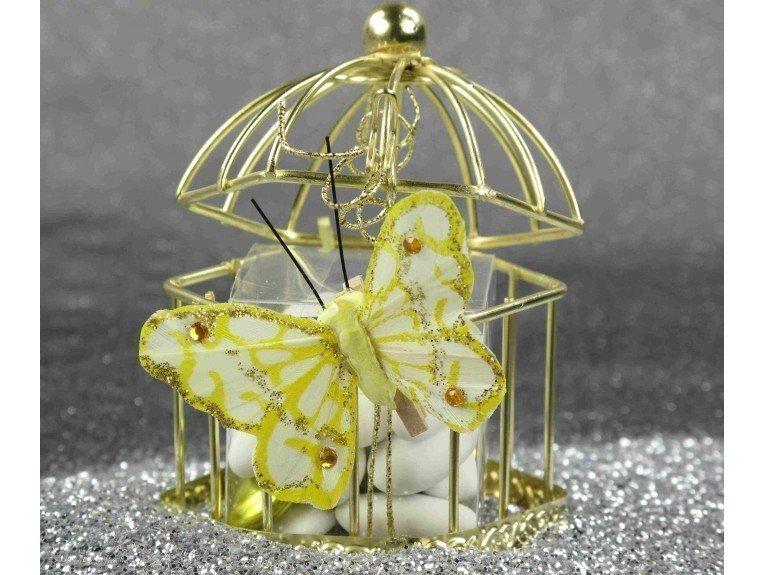 Cage à oiseau hexagonale & dragées amandes