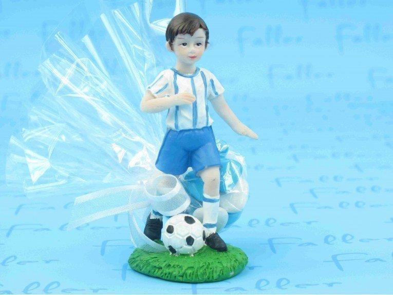 Joueur de foot turquoise et dragées baptême