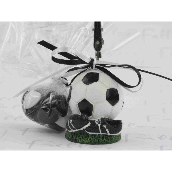 Dragees bapteme avec ballon de foot porte photo - Porte photo bapteme garcon ...