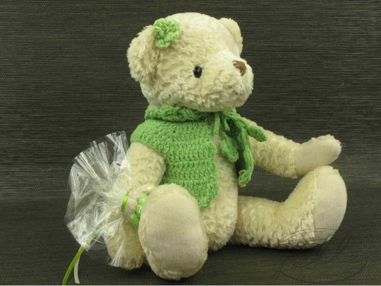Dragees avec peluche ours fille