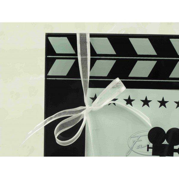 cadre photo clap cinema et dragees mariage