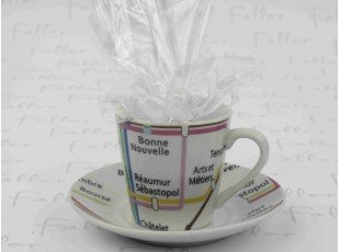 Dragées mariage dans tasse à café paris