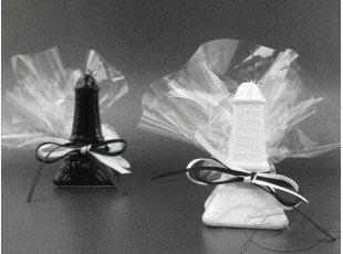 Tour Eiffel sel & poivre avec dragées mariage