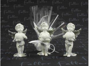 Anges de communion ailes argentées avec drageés