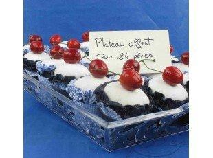 Dragees dans cupcake bleu jean