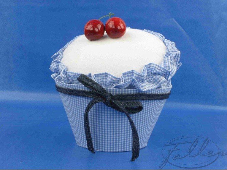 Cupcake bleu jean (grand modele)