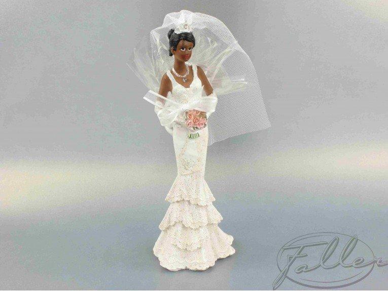 Mariée de couleur avec dragées (moyen modèle)