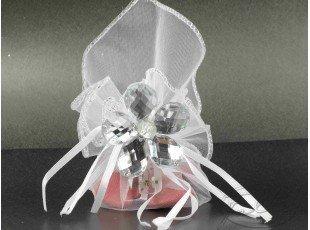 Pochon magique avec dragées et fleur cristal