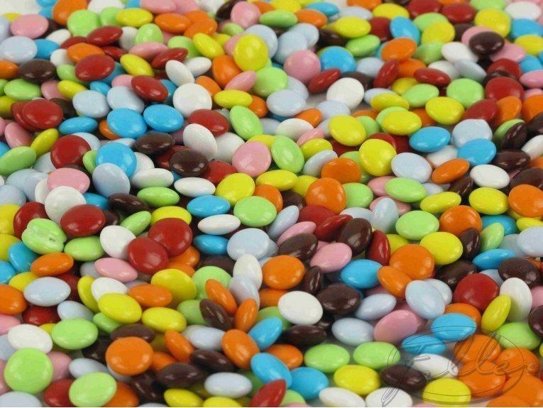 Dragées confettis multicolores (500 gr)