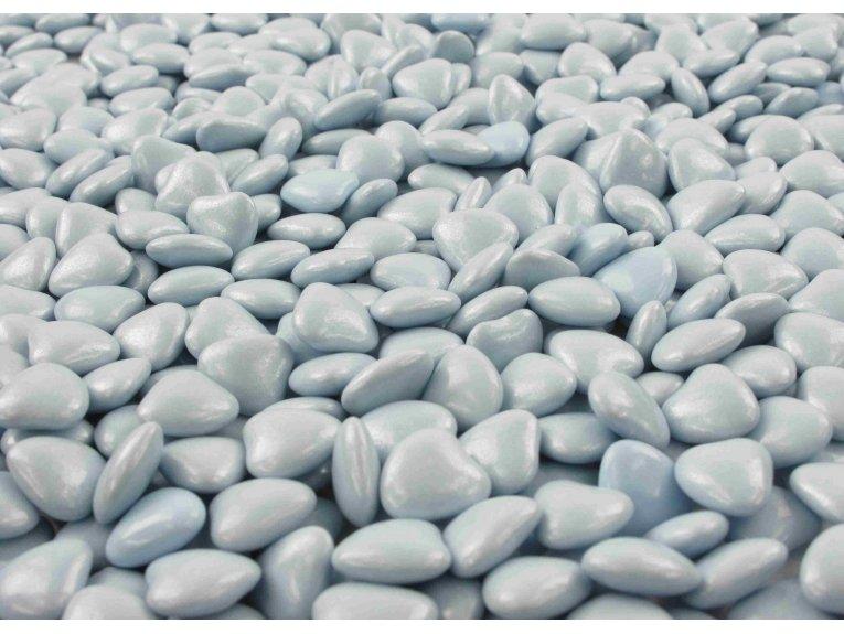 Dragées mini-coeur bleu ciel (500 gr)