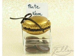 Macaron or marque place avec dragees