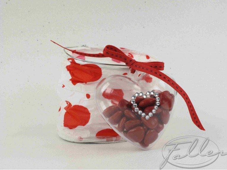 dragees mariage dans lampion rouge et blanc. Black Bedroom Furniture Sets. Home Design Ideas