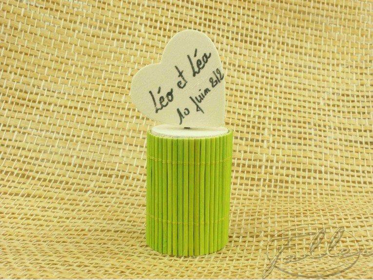 Boite bambou anis de bapteme