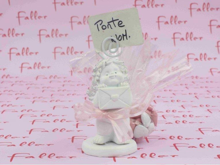 Dragées fille baptême thème ange porte photo