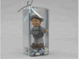 Dragees dans boite cadeau avec figurine garcon