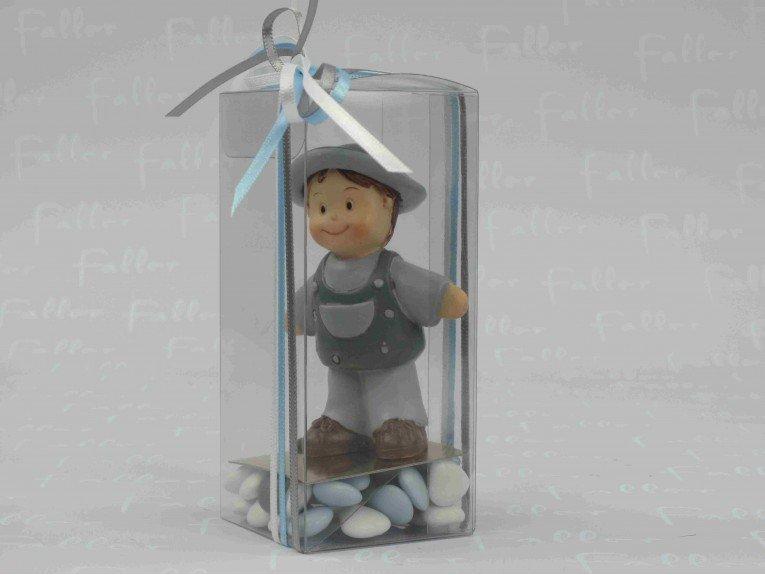 Dragées dans boite cadeau avec figurine garçon