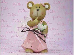 Tirelire ours avec dragees pour fille
