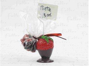 Porte carte fraise avec dragee bapteme