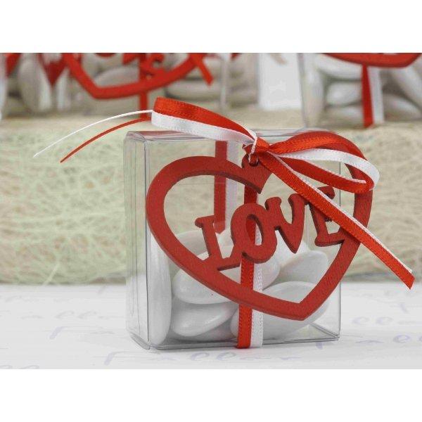 boite drag es mariage avec coeur love rouge. Black Bedroom Furniture Sets. Home Design Ideas
