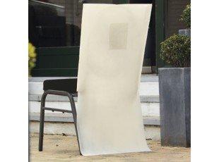 Housse chaise avec poche pas cher (ecru)