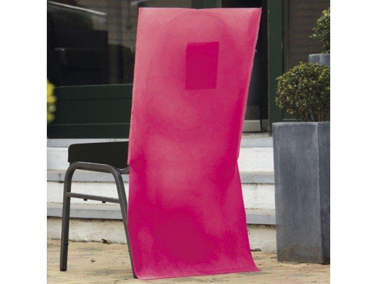 Housse chaise fuchsia avec poche