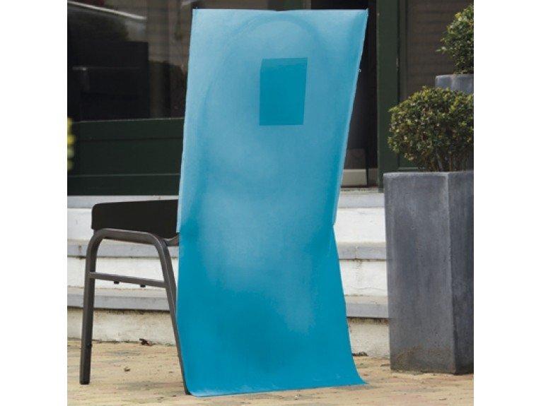 Deco chaise turquoise avec poche