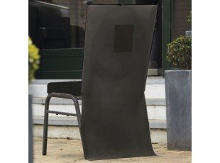 Housse de chaise noir avec poche