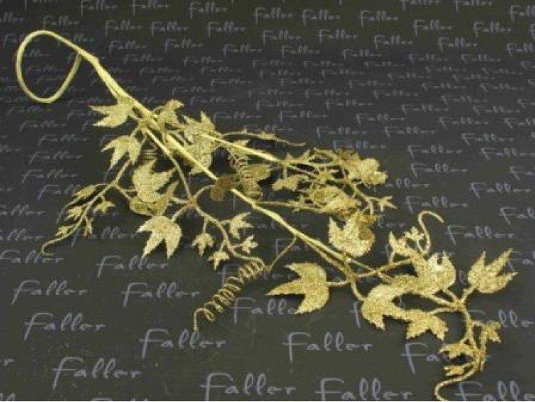 Deco feuille de vigne doree