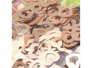 Coeur paillettes cuivre