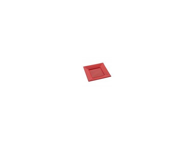 Assiette plastique couleur rouge (petite)
