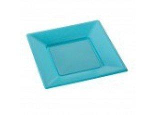 Assiettes plastique turquoise (petit modele)