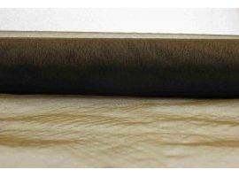 chemins de table chemin de table marron en organza. Black Bedroom Furniture Sets. Home Design Ideas