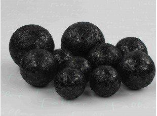 Sachet de boules noir à paillettes (x10)