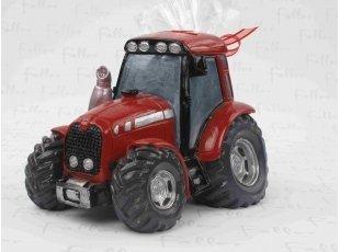 Grand tracteur rouge tirelire pour garçon
