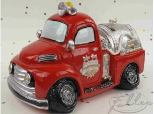 Tirelire camion de pompier avec dragées