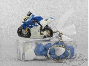 Moto porte cle et boite de dragees mariage