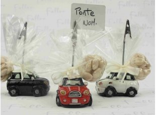 Porte photo voiture mini avec pochon de dragees
