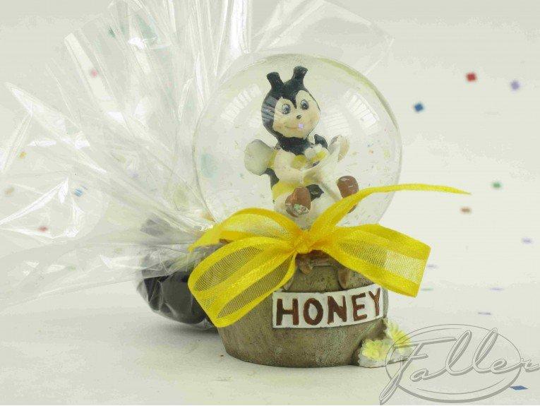 Boule à voeux abeille avec ses dragées