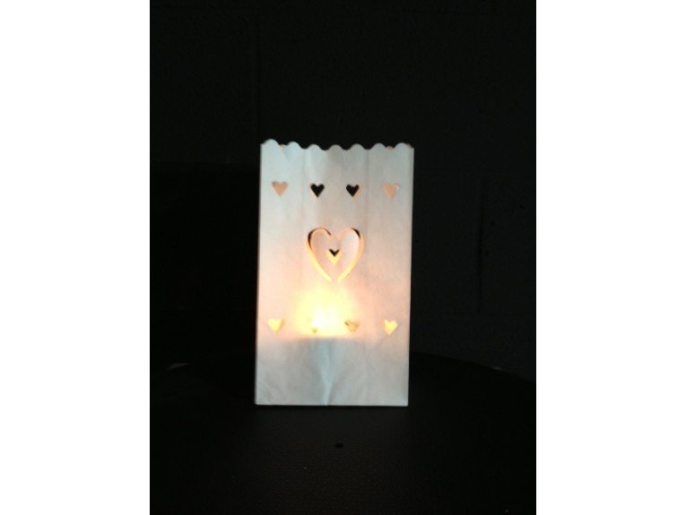 Lanterne dessin coeur (papier ignifuge)