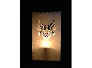 Lanterne papier blanc dessin colombe